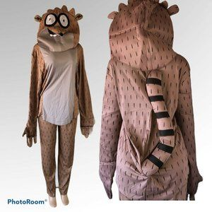 The Regular Show Costume Rigby Adult Costume OS